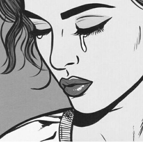 Line Drawing Of Sad Face : Elles ont brisé mon coeur tribu de